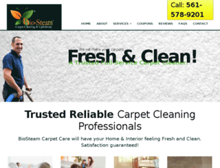 biosteamcarpetcleaningflorida.com screenshot