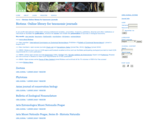 biotaxa.org screenshot