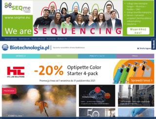 biotechnologia.com.pl screenshot