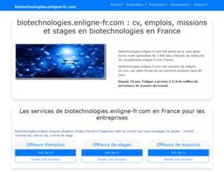 biotechnologies.enligne-fr.com screenshot