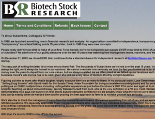 biotechstockresearch.com screenshot