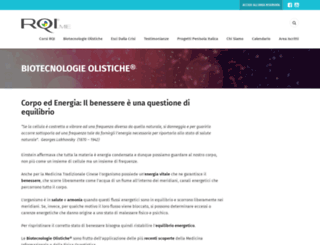 biotecnologieolistiche.com screenshot