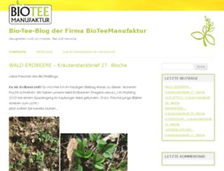 biotee-blog.de screenshot