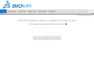 biovia.webex.com screenshot
