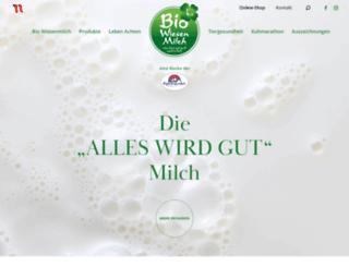 biowiesenmilch.at screenshot