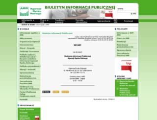 bip.arr.gov.pl screenshot
