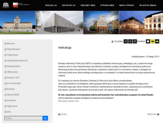 bip.muzeum.szczecin.pl screenshot