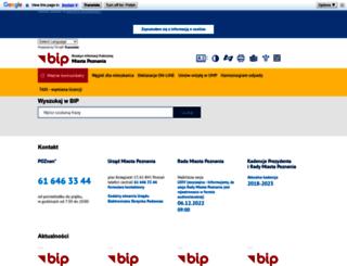 bip.poznan.pl screenshot