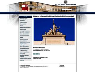 bip.pw.edu.pl screenshot