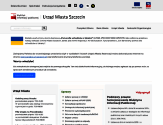 bip.um.szczecin.pl screenshot