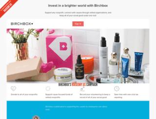 birchbox.brightfunds.org screenshot