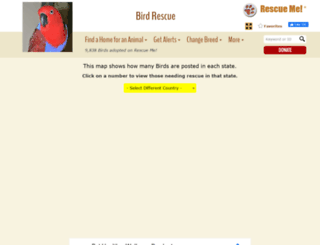 bird.rescueme.org screenshot