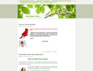 birdbathsolar.org screenshot