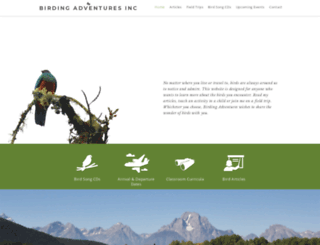 birdingadventuresinc.com screenshot