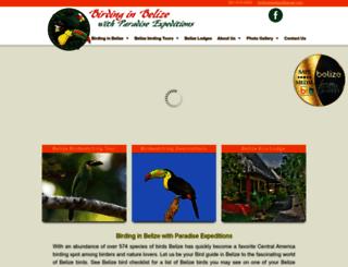 birdinginbelize.com screenshot