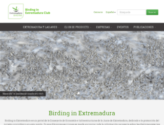 birdinginextremadura.com screenshot