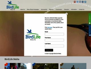 birdlifemalta.org screenshot