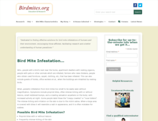 birdmites.org screenshot