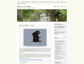 birdsofthebible.wordpress.com screenshot