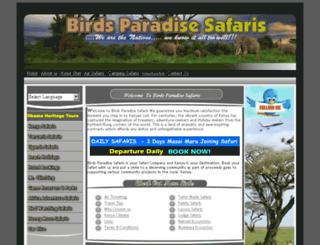 birdsparadisesafaris.com screenshot