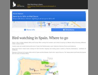 birdwatching-spain.com screenshot