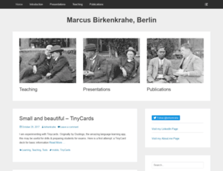 birkenkrahe.com screenshot