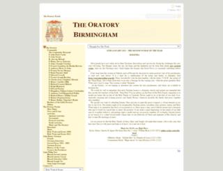 birmingham-oratory.org.uk screenshot