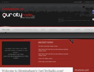 birmingham.ourcityradio.com screenshot