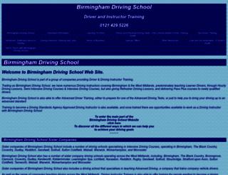 birminghamdrivingschool.co.uk screenshot