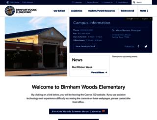 birnham.conroeisd.net screenshot