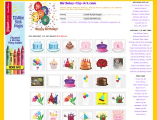 birthday-clip-art.com screenshot