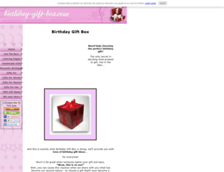 birthday-gift-box.com screenshot
