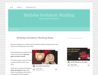 birthday-invitation-wording.com screenshot