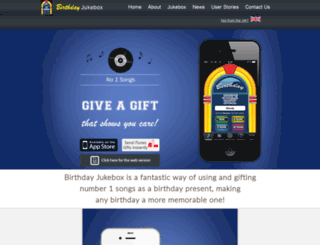 birthday-jukebox.co.uk screenshot