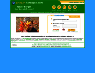 birthday-reminders.com screenshot
