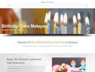 birthdaycake.com.my screenshot