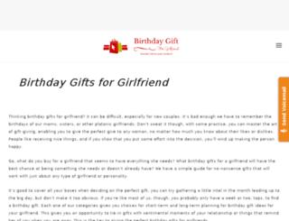 birthdaygiftsforgirlfriends.com screenshot