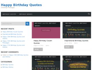 birthdaygreetingsquotesmessages.com screenshot