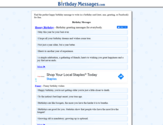 birthdaymessages.com screenshot