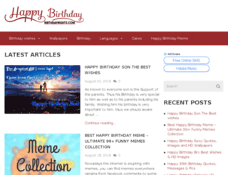 birthdaynights.com screenshot