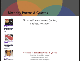 birthdays-poems.com screenshot