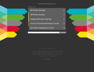 birthdaysayings.com screenshot