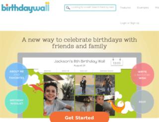 birthdaywall.com screenshot