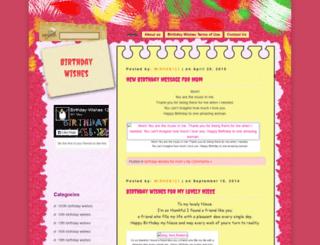 birthdaywishes123.com screenshot