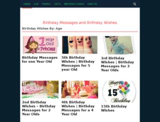 birthdaywishesfor.info screenshot