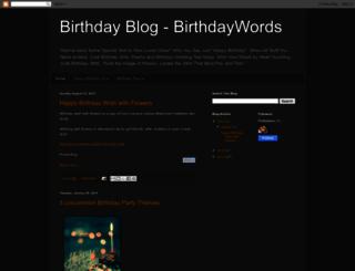 birthdaywords.blogspot.com screenshot