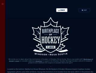 birthplaceofhockey.com screenshot
