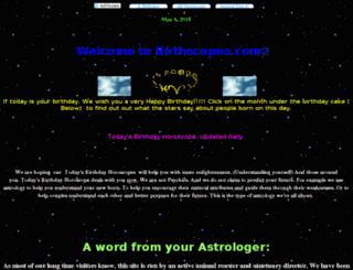 birthscopes.com screenshot