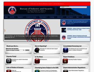 bis.doc.gov screenshot