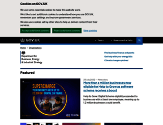 bis.gov.uk screenshot